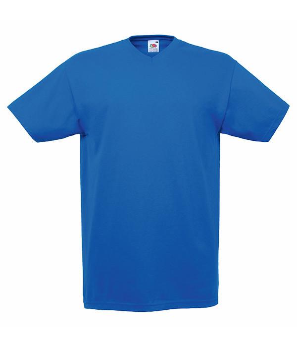 Мужская футболка с v образным вырезом M, 51 Ярко-Синий
