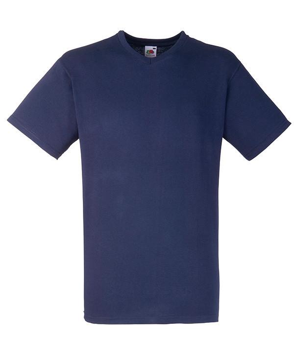 Чоловіча футболка V-подібний виріз M Глибокий Темно-Синій