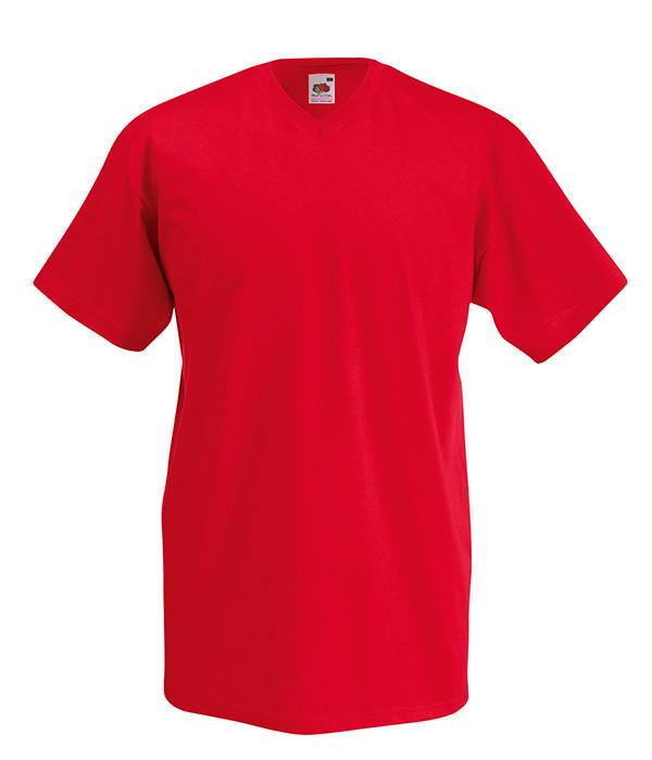 Мужская футболка с v образным вырезом L, 40 Красный