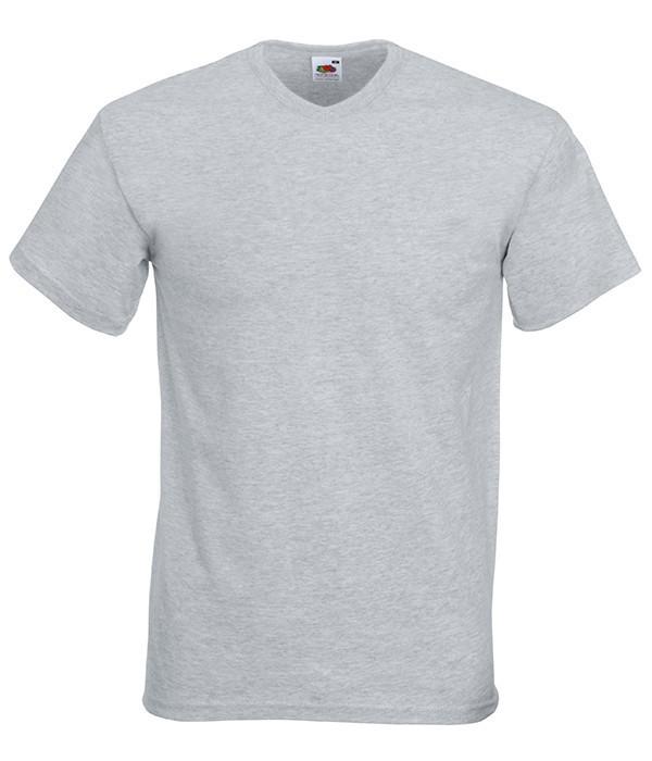 Мужская футболка с v образным вырезом L, 94 Серо-Лиловый