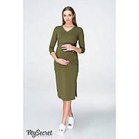 Платье для беременных и кормящих Pam ЮЛА МАМА (оливковый, размер L), фото 1