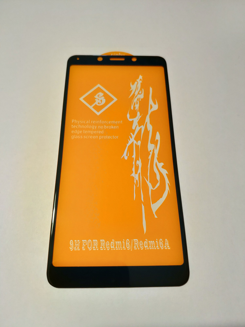 Защитное стекло 6D  для Xiaomi Redmi 6 Full Glue Черное