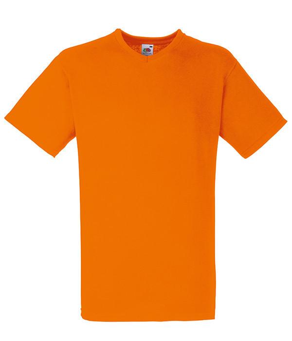 Мужская футболка с v образным вырезом S, 44 Оранжевый