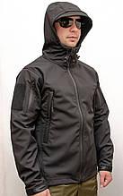 Куртка Soft Shell BLACK  MILITARY PLUS