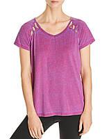 Женская фиолетовая футболка свободного фасона Marc New York