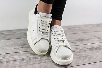 Женские кроссовки Alexander McQueen (Александр Маккуин, Маквин) - белые