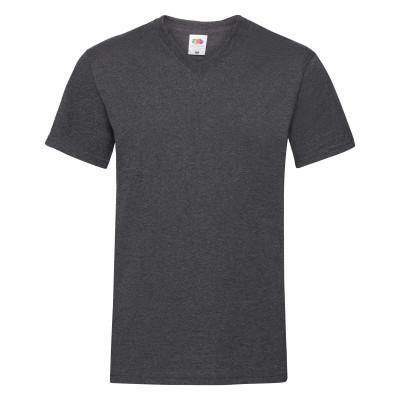 Мужская футболка V-образный вырез 48,  V-образный, Темно-Серый Меланж