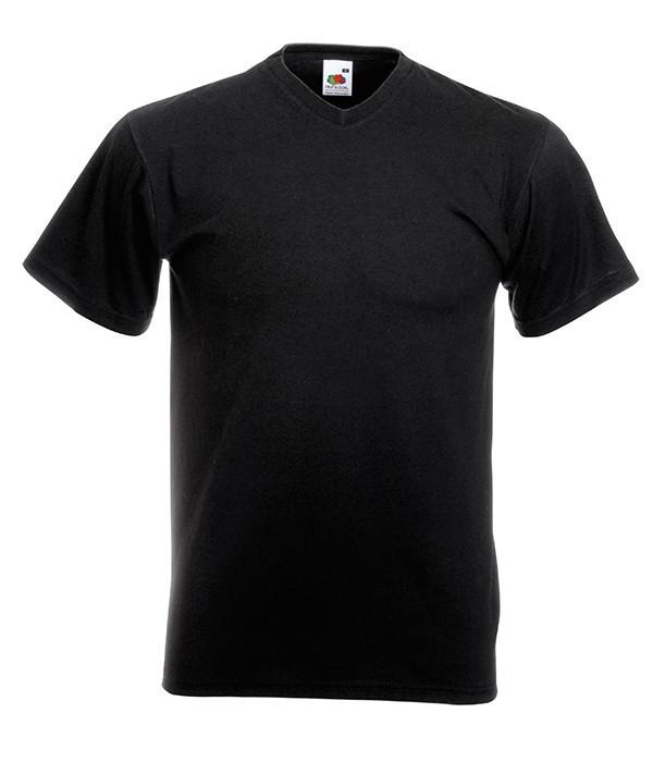 Мужская футболка V-образный вырез 4XL  Черный