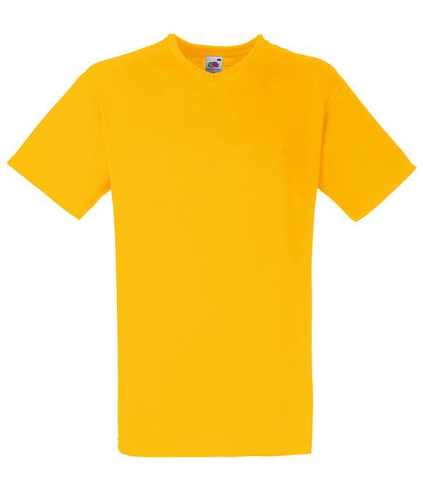 Мужская футболка V-образный вырез 3XL  Солнечно Желтый