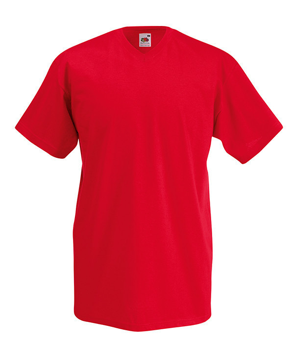 Мужская футболка V-образный вырез 3XL  Красный