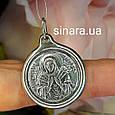Семистрельная серебряный кулон иконка - Семистрельная Богородица ладанка серебро диам. 23 мм, фото 3