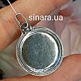 Семистрельная серебряный кулон иконка - Семистрельная Богородица ладанка серебро диам. 23 мм, фото 2