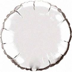 """Фольгований куля Коло срібло металік 18""""(45 см)"""
