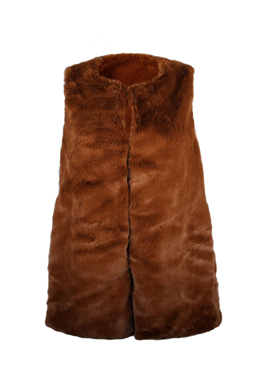 Жилет женский эко мех KIFA ЖЖМ-018/97 коричневый