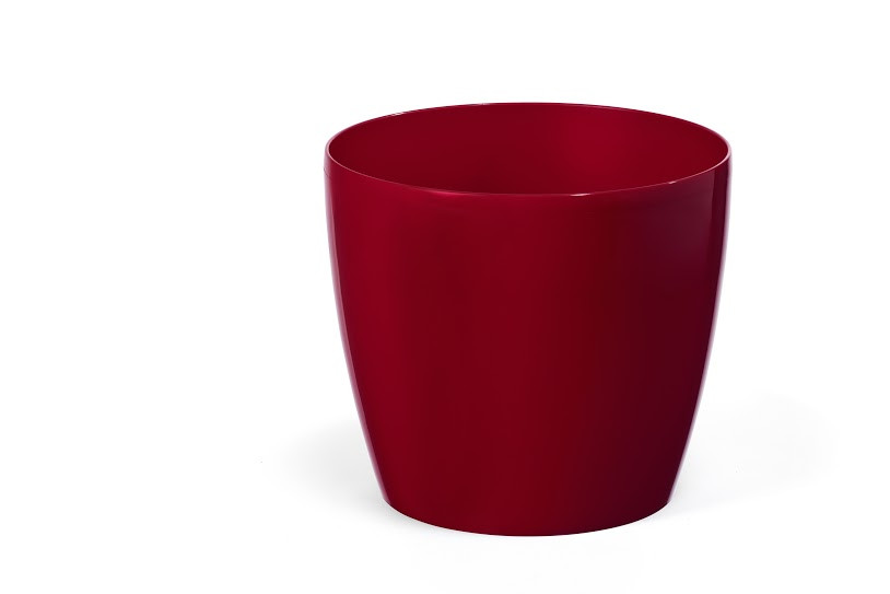 """Горщик квітковий пластиковий """"Магнолія"""", 250мм, (Бордовий) з підставкою"""