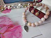 Комплект из натурального опала - браслет и серьги