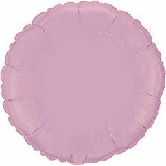 """Фольгований куля Коло ніжно - рожевий металік 18""""(45 см)"""