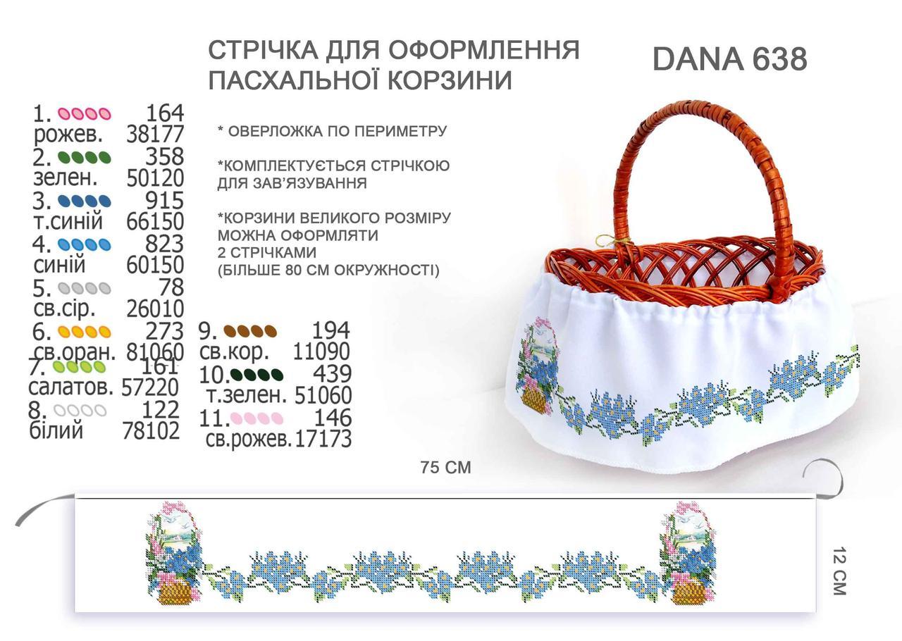 Лента (юбка) для оформления пасхальных корзинок 75 см