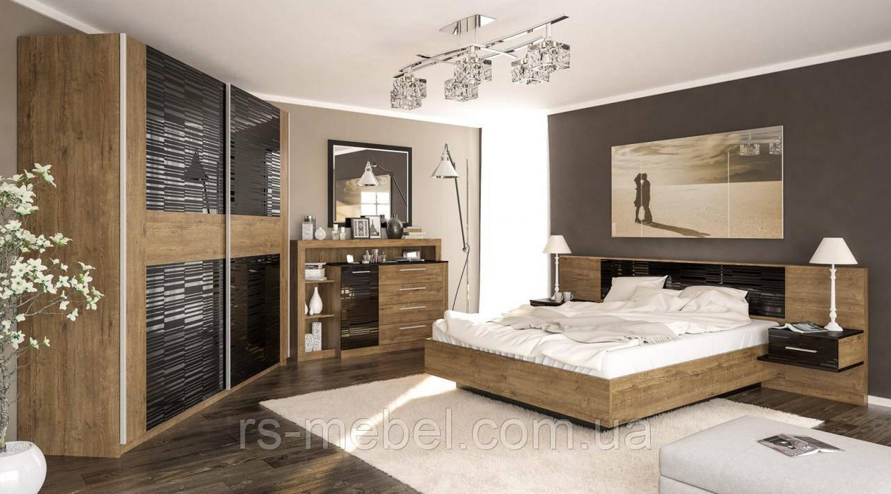 """Модульная спальня """"Фиеста"""", дуб април (Мебель-Сервис)"""