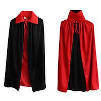 Хэллоуинский воротник Черный и красный плащ Червяк ведьмы Плащ вампира Двойной плащ Смерть Бог Дьявол - 1TopShop