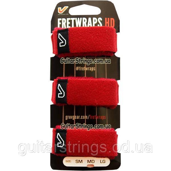 Gruv Gear FW-3PK-RED-MD-3 FretWraps 3-Pack Fire Medium