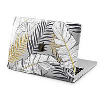 Чехол пластиковый для Apple MacBook (Золотые листья) модели Air Pro Retina 11 12 13 15 2015 2016 2017 2018 эпл макбук эйр про ретина case hard cover