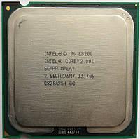 Процессор Intel Core 2 Duo E8200 C0 SLAPP 2.66GHz 6M Cache 1333 MHz FSB Socket 775 Б/У, фото 1