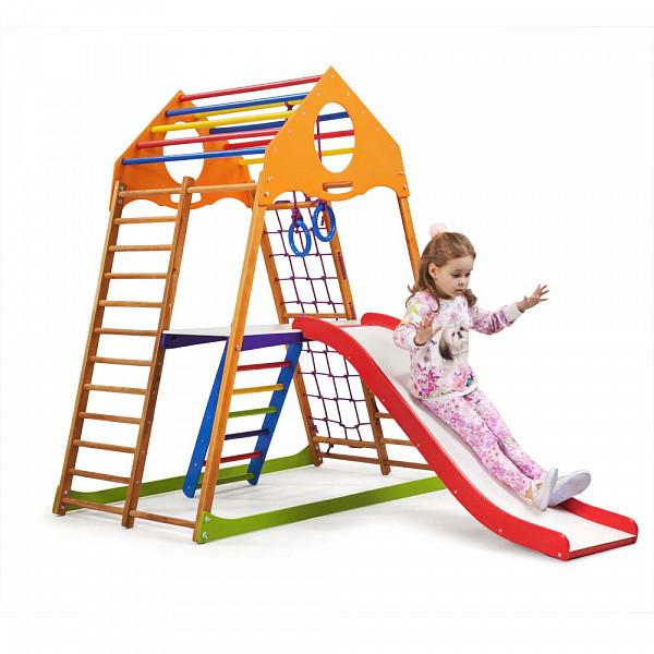 Детский спортивный комплекс для дома KindWood Plus 2