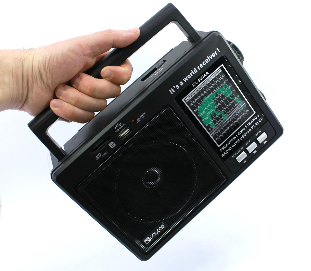 Радиоприемник портативный GOLON RX-99UAR USB SD
