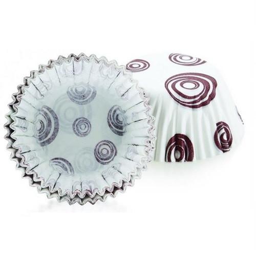 Формы для выпечки кексов, 7 см, 80 шт., бумага