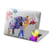 Чехол пластиковый для Apple MacBook (Красочный слон) модели Air Pro Retina 11 12 13 15 2015 2016 2017 2018 эпл макбук эйр про ретина case hard cover