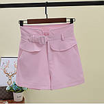 Женские модные шорты с высокой посадкой (в расцветках), фото 5