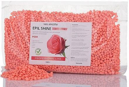 Воск для депиляции горячий пленочныйEpil Shine (роза) 1000г
