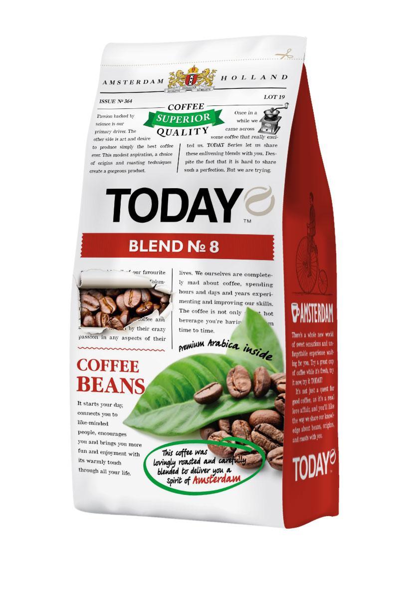 Кофе в зернах TODAY BLEND №8 200g Пр-во Нидерланды 01125