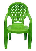 Пластиковый стульчик  детский  ромб  зеленый