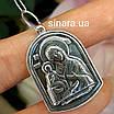 Серебряна иконка Троеручница Божья Матерь - Кулон ладанка Богородица Троеручница, фото 2