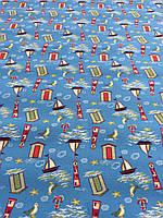 Детский ковролин Кораблики 3м