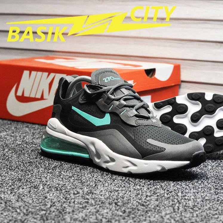 Мужские кроссовки Nike Air Max 270 react Gray