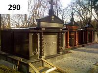 Ексклюзивний подвійний пам'ятник склеп з граніту лізник габро