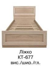 Кровать двуспальная с ламелями Корвет КТ-677 (БМФ) 860х2070х830мм акация