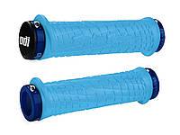 Грипсы ODI Troy Lee Designs Signature MTB Lock-On Aqua Blue, с синими замками