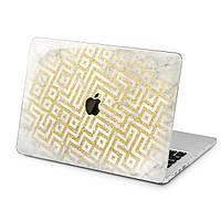 Чехол пластиковый для Apple MacBook (Золотой орнамент) модели Air Pro Retina 11 12 13 15 2015 2016 2017 2018 эпл макбук эйр про ретина case hard cover