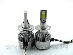 LED C6 H7 COB 6500k 3800Lm 35w 12v-24v, светодиодные автомобильные лампы основного света, фото 2