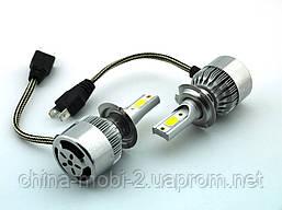 LED C6 H7 COB 6500k 3800Lm 35w 12v-24v, светодиодные автомобильные лампы основного света, фото 3