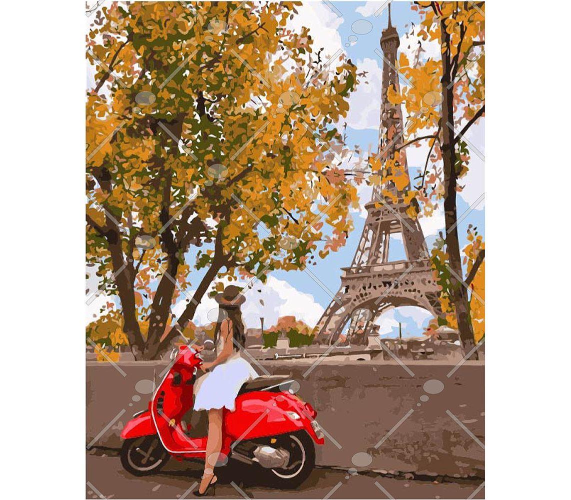 Картина по номерам Впервые в Париже 40 х 50 см (KH4581)