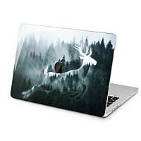 Чехол пластиковый для Apple MacBook (Туманный лес, олень) модели Air Pro Retina 11 12 13 15 2015 2016 2017 2018 эпл макбук эйр про ретина case hard