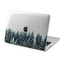 Чехол пластиковый для Apple MacBook (Зимний лес) модели Air Pro Retina 11 12 13 15 2015 2016 2017 2018 эпл макбук эйр про ретина case hard cover