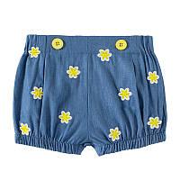 Джинсовые детские шорты для девочки Цветочки Jumping Beans