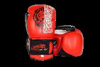Боксерские перчатки Power Play 3006 Lion (Черные, Синие, Красные) Взрослая, Искусственная кожа, 16oz, Красный