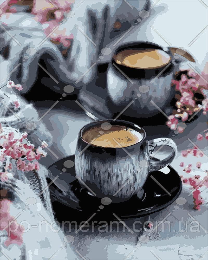 Картина по номерам Кофе на двоих 40 х 50 см (KH5548)